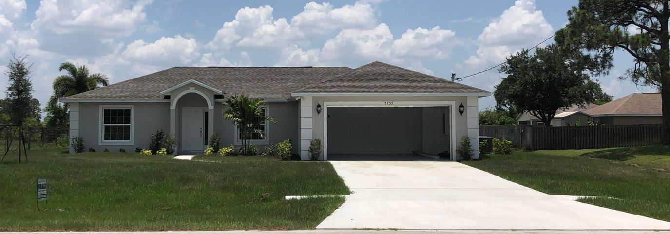 New construction built in 2019. New stainless steel appliances with granite counter tops. Great Location with impressive view over large water retention area in the beautiful Tornino area of Port St. Lucie West. Brand new construction performed by a experienced local builder/contractor. Lots of attention to detail is found throughout the home. From the flat screen TV ready power and cable outlets on the walls, waterproof wood flooring, epoxy coated garage floor, automatic garage door opener, custom tile in bathrooms and more.