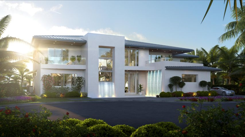 "New construction home located on cul de sac no traffic location. Best new construction in Royal Palm. Featuring 5 bedrooms + club/media room + office + fitness room + game lounge + homework lounge. Grand Entry Custom 12 FT Waterfall feature, custom glass elevator enclosure with an Italian gem glass 24 FT art wall. Invisible 12 FT pocketing sliding glass doors, for an ultimate indoor/outdoor experience, and acrylic 12.5 FT long aquarium grade waterfall pool feature. Glass Spa with custom fire pit inside, 24'' FT linear pool fire feature, separate kids pool area. 3rd Floor Rooftop observation deck & putting green, acrylic glass entry bridge & unique gem glass watertile panels from Italy at the front waterfall feature. Over 13,000 SqFt of total indoor/outdoor space. - Approximately 3,000 square foot of balconies and patios  - Custom Artistic staircase - 12 FT floor to ceiling glass walls at office and gym - All high end cabinetry made in Germany - All European tile and finishes (Made in Italy / Spain) - Full home automation via Lutron and Savant systems - Multi Use Media Room / Club Room with complete surround system, full bar, and TV unit for over 100"" TV - Custom 600 bottles Temperature controlled wine cellar room  - 100"" fireplace - Fully furnished with top of the line designer furnishing - Full home water filtration system  - All bedrooms are en-suites with private balconies   - Hurricane protected construction with full home generator"