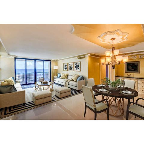 DIRECT OCEAN VIEWS - STAGED LIVING ROOM