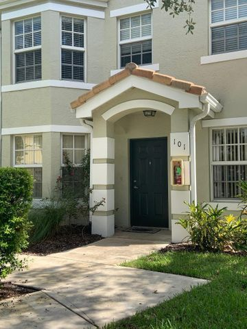 1st FLOOR CORNER UNIT! 3bed/2bath w/2 car garage. Tiled floor in main area,SS appliances, granite counters, oversized laundry room, cozy covered patio, impact glass windows,newer AC. Dues include full exterior maintenance. The community features a resort-style heated pool, spa,fitness center open 24/7, luxurious clubhouse w/ conference rooms and business center. The perfectly maintained grounds have tennis courts,kids playground,car wash area.Close to all St.Lucie West has to offer, St.Lucie Mets Stadium, IRSC, PGA Golf, shops, restaurants and banking. This unit will not last!!!!