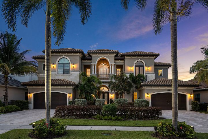 Amazing 9,803 Tot Sq Ft, 6 Bedroom - Waterfront Estate Home nestled in one of the most exclusive neighborhoods of West Delray Beach along the Boca Raton border! Welcome to the 7 Bridges! The incredible ''Palazzo'' Model is the largest model offered. Situated on an oversized .32 Acre lot with private water views and an expanded Pool/Patio deck! Enter to a jaw dropping foyer with a 24' ceiling! Upgrades include: Polished Marble Flooring, Full Impact Windows, Crown Moulding and much more!! A Chef's Dream Kitchen boasts a 60'' Wolf Nat Gas Stove, Twin SUB Zero Fridge/Freezer, Wolf Coffee maker and rare S/S exhaust hood! 7 Bridges offers over 9 acres of resort-style amenities! Impressive fitness center, exercise studio, saunas, massage rooms, world-class tennis, 5 Star Restaurant and much more!