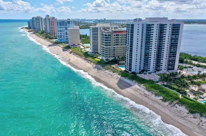 REDUCED! Bask in panoramic and expansive Ocean or Intracoastal views from EVERY window in your 2 BD,2 BA Oceanfront Condo in desirable Eastpointe1 on Singer Island.This spacious 1,711 total sft unit with Balcony has only been periodically used as a Vacation home and is in excellent condition .Upgrades include Renovated Kitchen and Bathrooms with Granite Countertops, SS Range, Microwave, Newer Cabinetry, Italian tile, Pristine Carpets in the Bedrooms ,and Closet inserts. It is also equipped with Accordian Hurricane Shutters and indoor parking for your convenience. This is aTURNKEY condo; ALL Furniture, including Accessories are included in the price. Eastpointe 1 has a newly renovated Lobby, Ocean Lounge and Hallways.Steps to the beach, enjoy the pool,spa,grill ,exercise room and library