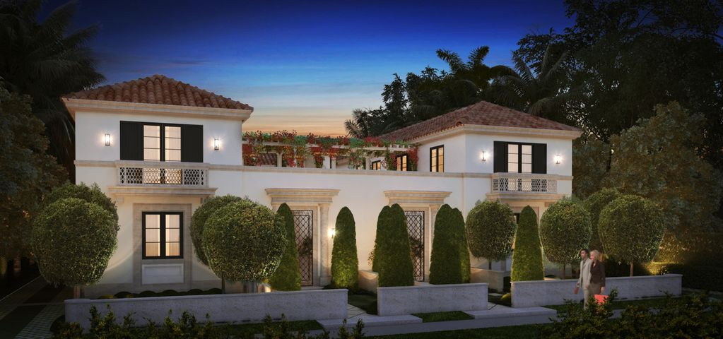 Welcome to ''Cortile Villas.''  Exceptional new construction programmed for delivery March 2020. Located in the heart of Palm Beach. Stunning 5 BR, 5 BAs & 2 HBAs. Meticulously designed by famed & accomplished  architectural firm Portuondo-Perotti. Envisioned & developed by Todd Michael Glaser.  Beautifully conceived gardens, courtyard entry, interior courtyard & pool create the ultimate ambiance. The residence includes an open combined kitchen/family room for casual living, a generous master bedroom suite with a generous shared bath &  dual closets. Gracious living & dining room with french doors opening to interior enclosed courtyard. The perfect setting for indoor or outdoor entertaining & dining.  Elevator & 2 car garage.