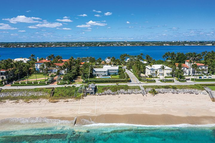 Oceanfront Billionaire's Row opportunity with approx. 15,232 SF lot and 3,255 SF beach parcel plus cabana. Build to suit or custom renovate two story bungalow home. Imagine enjoying the morning sunrise from your own slice of Palm Beach where the location can't be beat, 1 mile from Southern Blvd and 3 miles from Worth Avenue, and privacy is your treasure.