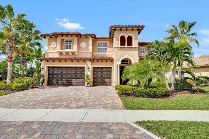 You don't want to miss out on this gorgeous home in the highly sought-after gated Rialto community. Dripping in curb appeal, this incredible home has been meticulously maintained with lush landscaping filling a large lot. An entertainers dream, you will love hosting friends and family with a backyard right on the lake, heated saltwater pool, shaded pergola and bonus tiki hut pool with Jacuzzi! Enjoy even more entertainment space inside with a spacious floor plan and dream chef's kitchen. This must-see home is in a gorgeous and private community with so much to offer from playgrounds to tennis courts, a splash park, exercise room and more! A quick commute to local beaches, parks and dining put you exactly where you want to be. This must-see home is sure to go quickly!