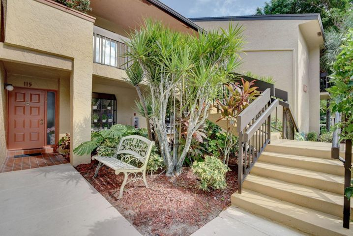 Imagine walking into your first floor condo in Boca Delray Golf and Country Club! Gorgeous updated granite kitchen and 2 full baths. Comfort and easy living in the open concept dining and living room or relax in the quiet screened porch viewing the 12th hole . Master has tremendous walk in closet adjacent to the large master bath with double sinks, soaker tub and separate shower. All in the welcoming 55 + community boasting golf,tennis,pools, hot tub clubhouse,fitness center and 19th hole. Located mins from beaches, fine dining, shopping and Publix! Short drive to trendy Atlantic Ave ! HOA maintenance includes manned guard house , water and cable. Small pets welcome! PLEASE CLICK ON VIRTUAL TOUR