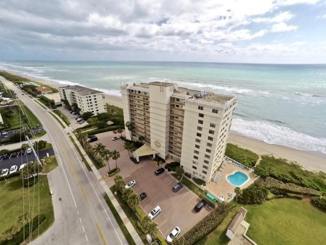DIRECT OCEAN VIEWS ABOUND THROUGHOUT THIS END CORNER CONDO IN THE HEART OF JUNO BEACH.  WALK IN THE FRONT DOOR AND BE WELCOMED BY THE SIGHTS, SOUNDS AND SMELLS OF THE GLORIOUS OCEAN.  THIS UNIT IS ON THE NORTH END OF THE TOWER, SO OCEAN VIEWS ARE ENJOYED IN ALL ROOMS!   BONUS NORTH VIEWS OF THE JUNO PIER! UNIT HAS BEEN KEPT IN EXCELLENT CONDITION AND READY FOR IMMEDIATE OCCUPANCY OR THE NEW OWNERS TASTES.  HEATED OCEANFRONT POOL, PRIVATE BEACH ACCESS, BBQ, POOLSIDE SHADE STRUCTURES AND PROFESSIONAL MANAGEMENT.
