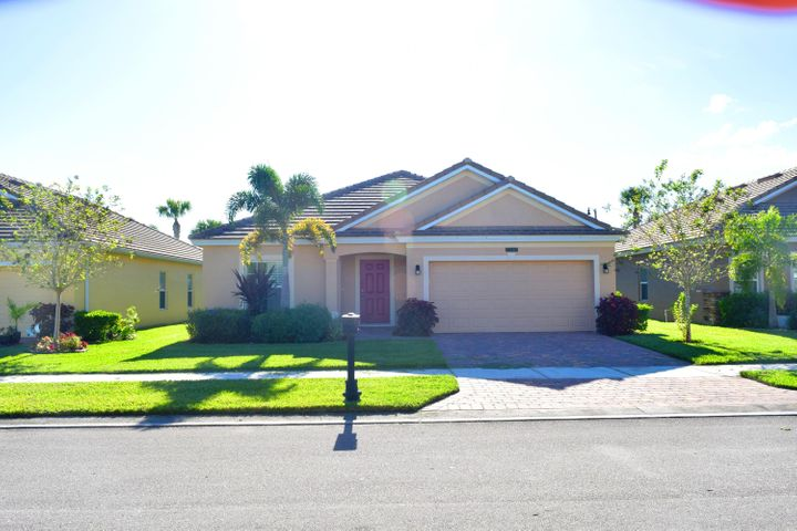 WHY WAIT FOR NEW CONSTRUCTION?  ALMOST NEW 4/3/2 HOME IN VICTORIA PARC, TRADITION!  TILED FLOORS IN THE MAIN AREAS. GRANITE KITCHEN COUNTERS, STAINLESS APPLIANCES, 42'' WOOD CABINETS.  SPACIOUS BEDROOMS, PLANTATION SHUTTERS.  COVERED AND SCREENED PAVER LANAI.  HOA DUES INCLUDE FULL LAWN CARE, CABLE, INTERNET, ALARM, PHONE.  CLOSE TO ALL TRADITION HAS TO OFFER!