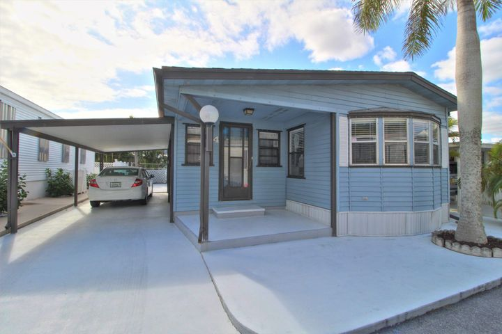 LOCATION, LOCATION!! Come enjoy the ocean breeze. This 55+ community is located within walking distance of the beach, Juno Fishing Pier, Publix and numerous restaurants. This home has been very well maintained and it shows. The outside plumbing has been updated, includes a full size washer & dryer(both newer), hurricane shutters, newer appliances and AC.