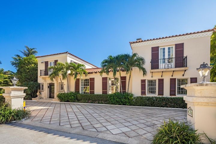 This gorgeous, totally reimagined and gracious Maurice Fatio on one of Palm Beach's most exclusive estate streets is now available!  Known for his unique and dramatic floorplans, Fatio designed this 8BR/9BA (10,125 sf) home for everyday living and fun entertaining!  In pristine condition, it is laden with character and has 3 separate bedroom wings for privacy.  With attention to detail at every turn, it boasts high ceilings, well scaled indoor and outdoor living spaces, oversized loggia and pool/patio area, tasteful appointments, impact glass, elevator, generator, deeded beach access.