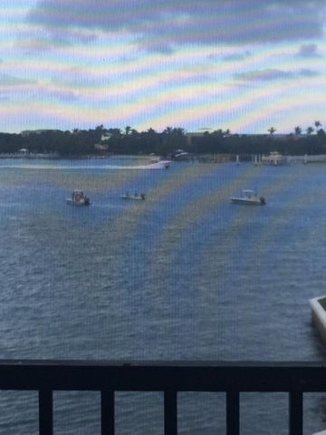 View of intracoastal from screened in patio