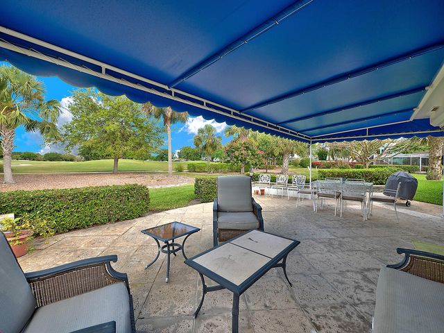 Covered patio with a view