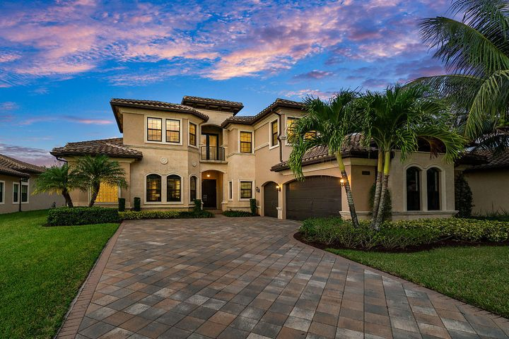 Magnificent - 5 Bedroom / 6,118 Tot Sq Ft. Waterfront Estate Home in the Prestigious Community of The Bridges in Delray Beach! A Chef's Dream Kitchen is appointed with High End ''Viking'' Stainless Steel Appliances, ''Sub-Zero'' built in refrigerator, Natural Gas Cooktop! Designer finished ''Hand Scraped'' style Wood Flooring along with oversized Porcelain adds a transitional, sophisticated feel! 2 ''Built Out''/Walk-in closets in the 1st floor Master Bedroom! Step outside to a Jaw Dropping-Custom Swimming Pool, Summer Kitchen and Expanded Patio area overlooking the expansive Lake. Solid CBS construction and Impact Windows! Clubhouse has Fitness, Tennis, Bistro, Gaming Room, Card Salon, Aqua Lot and Pool! Your next home is waiting! Schedule a tour!