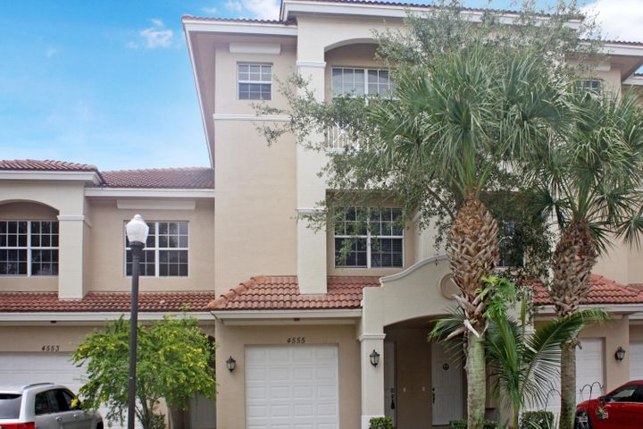 Luxury 3 Story Townhome in gated community. Kitchen features granite countertops and wood cabinets. Impact Glass throughout. The 1st floor has a great den/ office space. Community Pool. The unit has been freshly painted