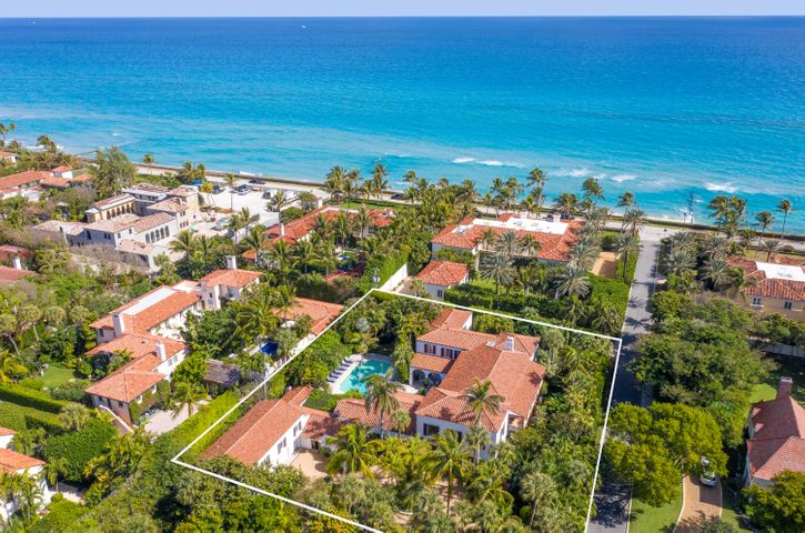 Extraordinary opportunity! This historic home in the Estate Section is ideally located in the ocean block and on one of the coveted ''El'' streets, just south of Worth Avenue. This stunning estate was built in 1928, designed by Howard Major and is considered one of the only Cuban Colonials on the island. This stunning 5 bedroom / 7.4 bath home was built around a beautiful courtyard. Also included is a 2 bedroom / 2 bath guest apartment over a large 3 car garage. Many of the homes original features remain beautifully maintained, including tiles brought over from a Cuban church and pecky cypress walls and ceilings. Lush landscaping and many private balconies and patios provide private areas to relax and enjoy this spectacular Palm Beach home.
