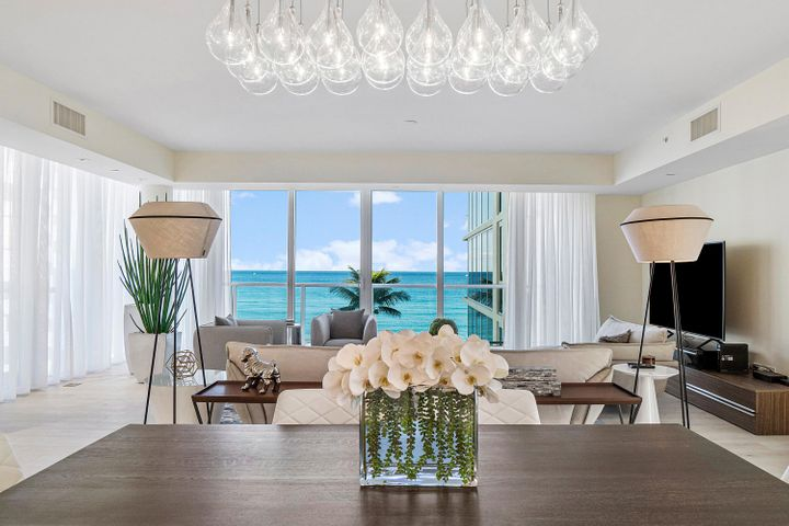 Be the first to live in this newly-furnished (and ready for move-in) 3-bedroom+den residence in the newly-completed ''3550 South Ocean''. One of only 30 residences in this boutique oceanfront building, Residence 4-B features a private elevator lobby, European Oak wood flooring, a chef 's kitchen with Miele appliances and gas stove cooktop, and a spacious floor plan of 2,982 Interior SF. Exquisite building interiors crafted by Champalimaud Design (known for their work at The Pierre New York, The Waldorf Astoria New York, The Four Seasons Jakarta, The Fairmont San Francisco, The St Regis Beijing and more). Experience a private oceanfront salt-chlorinated pool, an on-site Concierge and more.