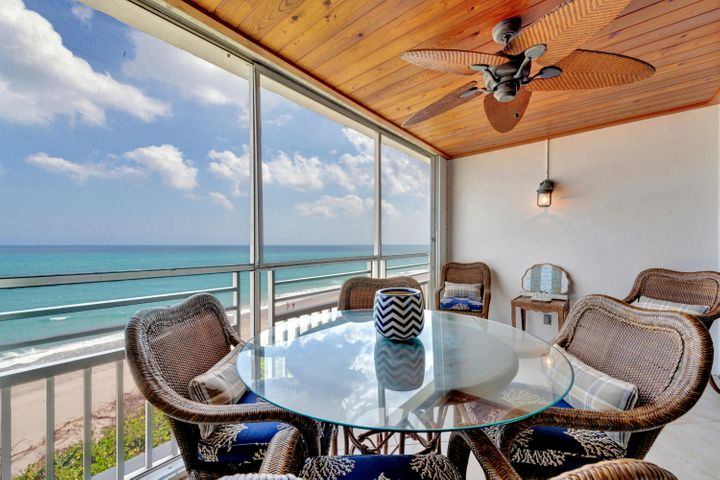 Beautifully updated 2BR 2BA oceanfront condo''On The Sand''in Juno Beach.Features include diagonal tile,hurricane impact windows & accordion shutters,updated baths,new Karastan carpet,crown molding and an upgraded electric panel.The kitchen offers Bosch stainless steel appliances,new Fisher Paykel Refrigerator, granite countertops and breakfast bar.The master bedroom features dual vanities,walk in closet with built ins and oversized shower.AC 2018.One of the few pet friendly buildings in Juno Beach.The building offers underground gated parking and a beautiful pool deck overlooking the ocean.