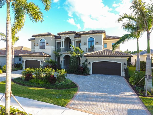THE WAIT IS OVER! LAST REMAINING NEW BUILD IN THE SOUGHT & SOLD OUT COMMUNITY OF SEVEN BRIDGES! DON'T MISS OUT ON THE OPPORTUNITY TO BE THE FIRST TO LIVE IN THIS BEAUTIFUL NEWLY CONSTRUCTED home. Containing roughly 2,000 sq/ft of upgraded outdoor entertainment space! Sitting in one of the most exclusive neighborhoods in Palm Beach County! Enjoy elegant estate living in this magnificent home located in the prominent South Florida GL community, Seven Bridges. This contemporary Palazzo model features 6BR, 7.5BA, an ELEVATOR, a great/family loft, mudroom, Home theatre and game-room. State of the art Chef's Kitchen is stunning with a 36'' gas range, BOSCH, SubZero & Wolf appliances. A double walk in pantry & dual inviting and oversized islands makes it a Chef's dream. 400k in upgrades!