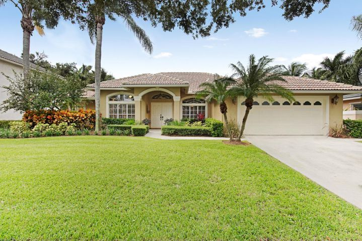 This could be the home you have been searching for! Stunning single story CBS 4 bed/2ba salt water pool and spa home in sought after EGRET LANDING! Pool built in 2012 with travertine patio and lushly landscaped for privacy! Added sun shade! Gas firepit and stove! Newer stainless appliances, 2018 A/C, updated guest bath, tile throughout! Dining with coffered ceiling. Kitchen overlooks the Great Room and pool! ''A'' Rated schools! Jupiter High, Independence Middle and Jerry Thomas zoned! Low HOA of $157 includes cable/internet, Gorgeous lakefront clubhouse features a huge heated resort pool, fitness center, covered  playground,, basketball, tennis, soccer/lacrosse fields and RV/boat storage! Enjoy Jupiter living with the beach 10 minutes away, fantastic dining and activities for everyone!