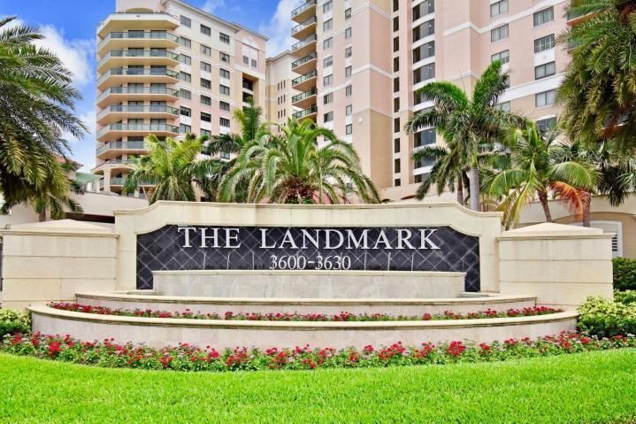 Luxurious Landmark.  24-hour concierge.  Valet parking.  Lovely, immaculate condo with 10 foot ceilings, marble floors throughout.  Window treatments, light fixtures and fans.  The Landmark is located in the center of Palm Beach Gardens.   Walk across a convenient bridge to Downtown at The Gardens for grocery shop, resturants and movie theatre.  The Amenities offered in the condo are boundless: pool, fitness center with sauna,  library, theatre, putting green, bocce court,  social and game rooms.    The Gardens Mall with fantastic shopping across the street.  Golf and beaches near by.