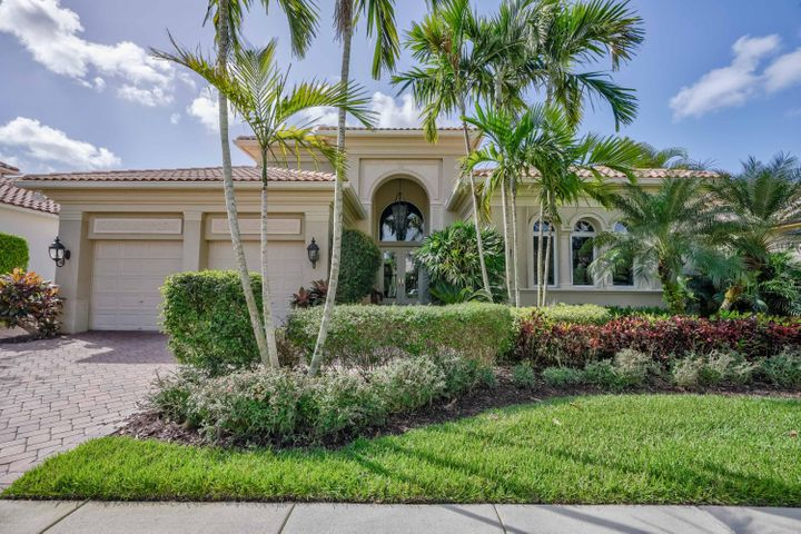 Enjoy country club living in this beautiful home in Mirasol.   Close proximity to the Club, this home has 3 bedroom suites plus an additional room with full bath.  Heated pool.  Golf membership