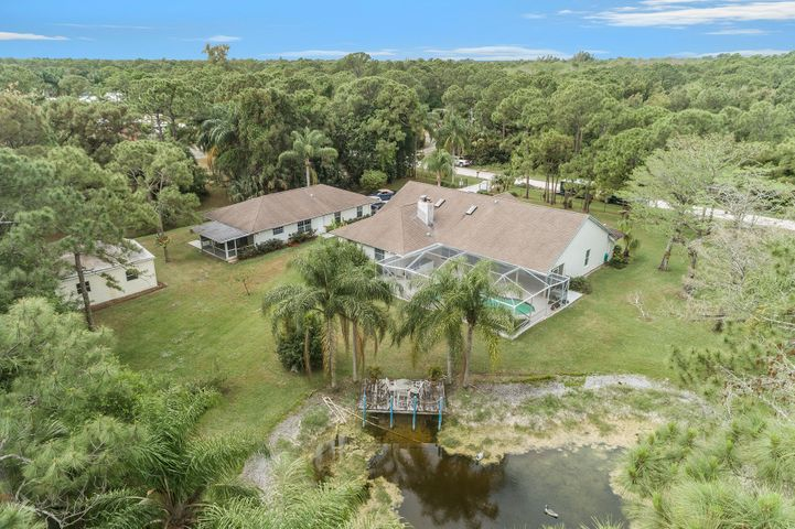 Aerial of property 1.15 acres