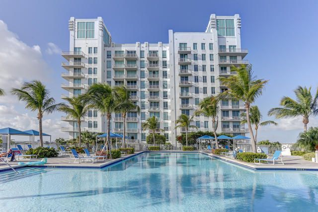 Fabulous pool area at The Edge overlooking the edge of Downtown West Palm Beach and Clearlake.