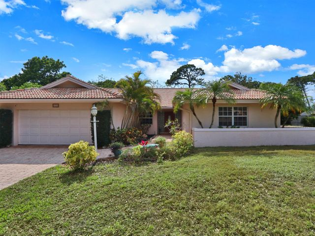 Lovely, single family pool home located in the desirable community of Whispering Trails! This 3 bedroom, 2 bathroom, concrete block home features an oversized lot, two car garage, wood floors throughout, fenced in backyard with a screened in pool and patio area. Located in the heart of Jupiter with A-rated schools and minutes to great restaurants, shopping, golf, marinas, and pristine beaches.