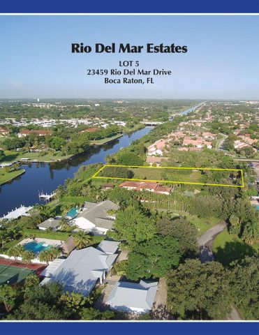 23459 Rio Del Mar Drive, Lot 5, Boca Raton, FL 33486