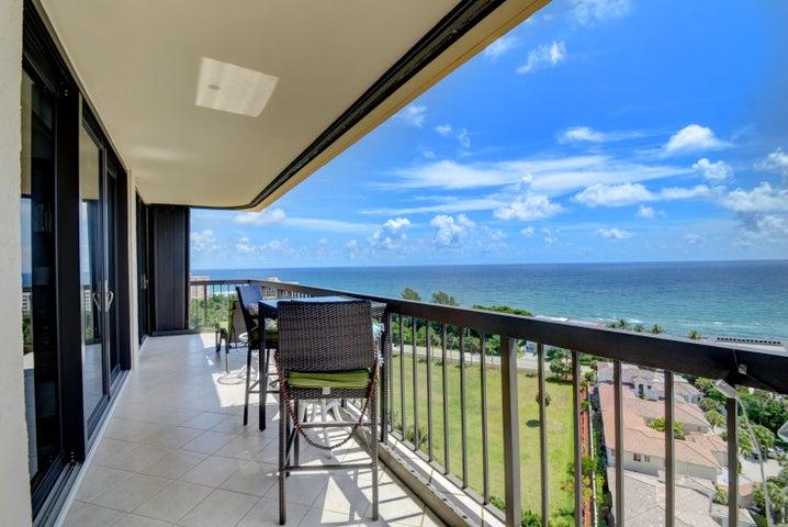 Breathtaking views from the balcony