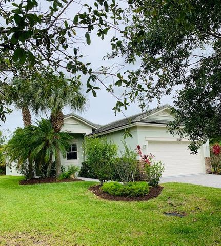 Beautiful home, interior lot, very private. Accross the street from a Natural Preserve with sidewalks and private back yard. Freshly painted interior, garage, and porch.Has Clubhouse, with pool, gym and meeting room.