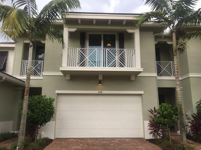 This gorgeous luxury townhouse located in the private gated community of Hampton Cay in the heart of Palm Beach Gardens. It really is a must-see! Your own private retreat every day! Built in 2013, this newer-construction home is solidly built.Desirable features include an open floor plan, upgraded $10K kitchen, accented with light, granite counter tops and backsplash, impact windows, plantation shutters and surround sound. A laundry room located upstairs near the large master suite for convenience. Your6000 resort-style clubhouse is just two min walk from property. Hampton Cay, is just minutes from some of S FL best beaches and world famous PBG golf courses, including PGA National, 2 miles from The Gardens Mall and less than a mile from both the FL Turnpike and I-95 with only 20 to PBI
