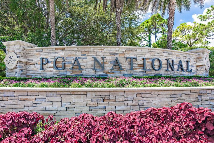 PGA NATIONAL SPONSOR OF THE ANNUAL HONDA CLASSIC GOLF TOURNAMENT, WALK TO CLUBHOUSE! ENJOY RESORT STYLE LIVING, WORLD CLASS SPA, RESTAURANT & BARS, SOCIAL MEMBERSHIP AVIAILABLE!! GREAT AMENITIES!! Condo is on 2nd floor, has HUGE VAULTED CEILINGS! very spacious!! TV's in living room and bedrooms.