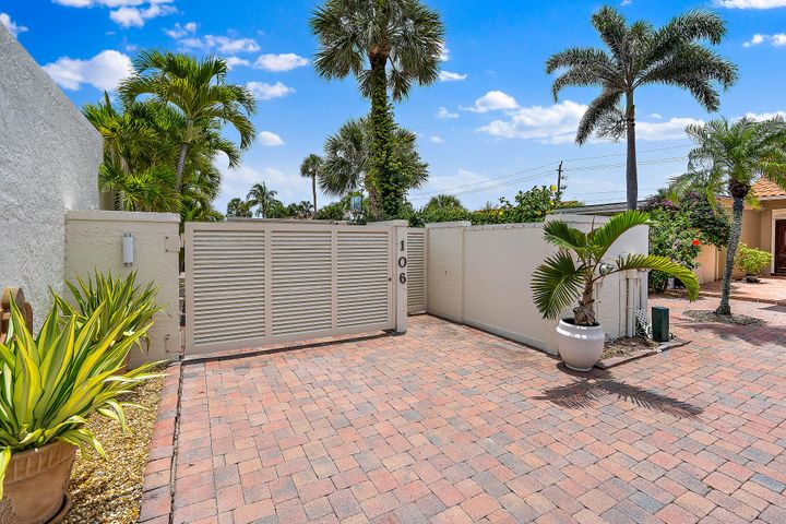 Gorgeous remodeled single story oasis!  3 bedrooms and 3 baths with impact windows and newer roof.  One of the most private properties in Ocean Walk with its own gates and putting green!  Pool area is pure serenity for outdoor living.  You will be transfixed the moment you walk in the door!