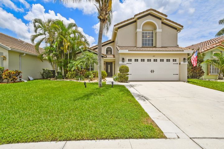 You don't want to miss out on this fully remodeled move in ready home located in the heart of Jupiter, Fl. Great school zones and closes to beaches. This home features an open floor plan with high ceilings and a saltwater pool that features a 10 person hot tub including jets and night LED lighting. The first floor features porcelain wood tile throughout carried through the master bedroom, bathroom and laundry room. Comfortable living area with shiplap walls. Electrical high hats and knock down ceilings throughout. Beautiful custom kitchen with 42 inch real wood soft close cabinets, full extension pullout drawers, and a porcelain farmhouse apron front 36 inch sink. Tile backsplash, QuartZite Countertops, 36 inch cooktop and upgraded GE appliances. Master bedroom features his/ her walk in cl Master bedroom features his/ her walk in closet, updated shower with pebble rock floor, and a Kohler soaking tub. Stairs have wood laminate floors which continue throughout the second floor. Complete remodel on the second floor which includes a loft area and 2 bedrooms. The second story  bath features granite countertops and fully remodeled shower with tub. ROOF REPLACED 2020 AC replaced in January 2019, new water heater installed 2020, washer and dryer  3 years old Samsung. The garage features Epoxy floors and attic space available for plenty of extra storage. HOA includes lawn maintenance monthly costs along with Hotwire Cable and fiber optic internet.