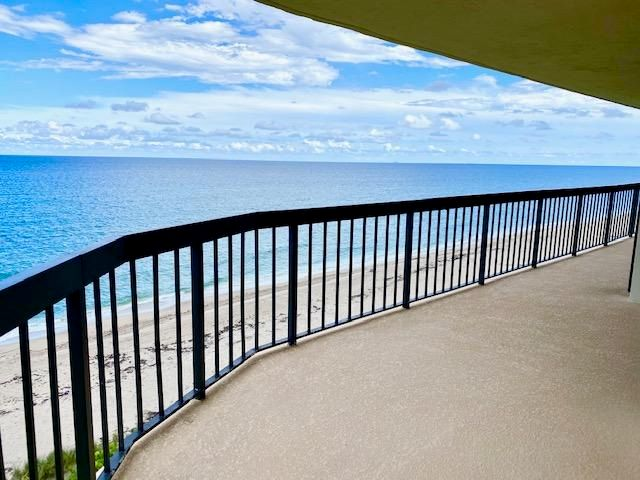 Amazing Direct Ocean, Corner Penthouse with a 90 foot wrap balcony, 3 bedrooms, and 2-1/2  bathrooms. and a large Open Kitchen. New impact windows are on order and will be installed in December 2020.There is a private and wide sandy beach, garage parking, clay tennis courts, a chlorinated-salt water pool, fitness center, hot tub, 24 hr doorman and an on site manager. This beautifully updated building has a designer renovated lobby and hallways.
