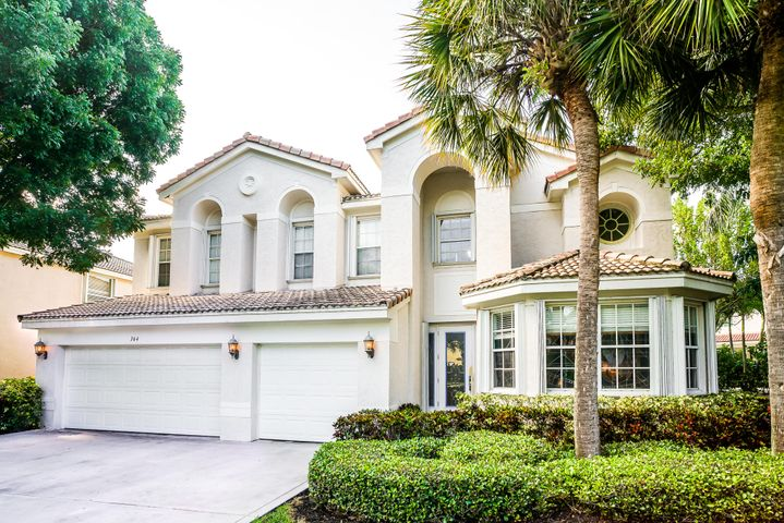 If you're struggling to find ample interior space at an incredible value in the heart of Jupiter - this home is for you!  The Buckingham model, a sprawling 6 bedroom 4.5 bath home in a favorite Jupiter community, Egret Landing.   Loved for its meandering sidewalks, mature tree lined streets and fantastic neighbors! An impressive street view with three car garage, large driveway and mature oaks sweetly overhang.  Solid, CBS construction -built by Pulte.  Quaint walkway leads to a covered front entry.  Inside a well thought out floor plan with space to house a crowd!   Front room with charming bay windows serves well as an open office or lounge area.  Views of the large side yard and lush landscape.  Large kitchen with granite countertops, hardwood cabinetry, oversized pantry, breakfast bar and attached dining room with views of the great outdoors.  Kitchen overlooks a large open living room with 20' ceilings and tall windows that showcase sky views and fill the home with natural light.   Also on the first floor is a guest bedroom with ensuite bath [also cabana], den with double doors, guest powder room and laundry room.  French door access to the pool and covered patio from den and main living area.  Upstairs, a theater [6th bedroom] with built in movie screen, six theater chairs and AV equipment, plus three additional bedrooms and two full baths.   An unbelievably large second level master suite is the ultimate owners retreat!  Large windows and enough space to serve as multiple uses - lounge area, living / tv area or office and large windows. Attached bath has double door entry, dual walk in closets, two sinks, private toilet area, soaking tub and step in shower enclosure!  Outside, a screened in salt water pool and spa with spillover water feature.   Screen door leads to a generous side yard with special tree canopy, grass area and pretty landscape.  3 car garage & tankless water heater, salt system & pool pump are newer.  Pool is not heated - heater electrical ho