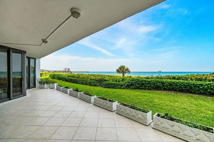 Spectacular Direct Ocean views as soon as you enter this spacious 3 bedroom, 3 bathroom apartment in the luxurious Palm Beach Hampton. The apartment lives like an Oceanfront home with floor to ceiling impact sliders in all rooms leading out to the large private lanai on the Ocean, perfect for enjoying the Ocean breezes and tranquility with access to the wide beach and pool area. Wonderful layout inside with all rooms on the Ocean, high ceilings, large closets, and many custom features and renovations. The Palm Beach Hampton has undergone a major renovation with magnificent lobbies, pool area with spas, fitness center and community room. Additional amenities include 24 hour gatehouse plus doorman, 2 car garage parking, tennis courts, and pet friendly. Short drive to Five Star Hotels, Palm Beach Par 3 Golf Course with award winning clubhouse and restaurant, Worth Avenue, and Cultural Centers. Resort living at its finest!