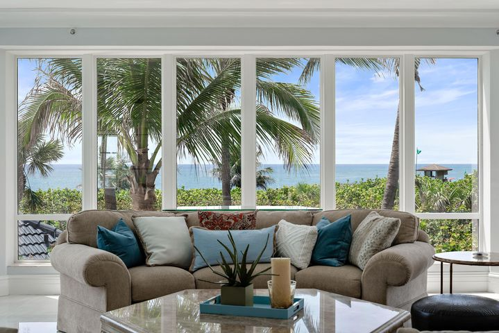 This beautiful whole floor 4069 ft. condominium at Oasis is truly your own luxury beach house. The views of the Ocean, Beach, Intracoastal Waterway and lush landscaping surround you everywhere. A total renovation was just completed and the features include new 24 x 24'' Polished Dolomite porcelain interior flooring, new 24 x 24'' Natural Dolomite porcelain flooring on all three oversize terraces, new hard wired remote control silhouette windows and shades throughout and total repaint with premium Benjamin Moore paints. The condo also has all impact glass sliding doors plus Dade county approved hurricane shutters. The amazing open kitchen offers oversized stainless subzero 30 inch refrigerator column, stainless subzero 18 inch freezer column, wolf 36 inch hood liner, kitchen island with Borghini silver quartz top, counter to ceiling subway glass tile backsplash, Thermador glass ceramic Freedom induction cooktop, 36 inch Wolf transitional drawer microwave oven, Miele dishwasher and subzero 24 inch undercounter wine cooler. All the bathrooms were done with new Kohler fixtures and toilets plus the master bath has a new freestanding bathtub with Jacuzzi and new bidet and Kohler shower package that includes rain head and handheld sprayer. The bedrooms have all new custom closet from Closet Maid master suite collection. This extraordinary home is being offered completely furnished and ready to enjoy. This unit comes with two under building garage parking spaces, large Extra Storage Locker and oasis is pet friendly.