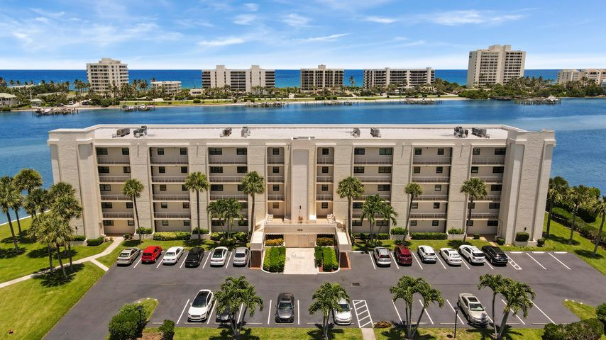 Welcome to The Broadview - Tequesta's premier 55+ condo. This community is uniquely located directly on the Intracoastal waterway. Bldg 100 is the most sought after location for the best views of the Intracoastal waterway, Jupiter Island, and peekaboo ocean views. Relax on your own private balcony, enjoy the breezes, watch the boats and water sports. The community has recently undergone extensive updates to enhance the lifestyle. This unit features full impact windows, impact sliding glass doors, and also pull down patio shutters to protect you patio furnishings. The community features a recreation center and pool directly on the waterway. There is also a community day dock for boaters - simply store your boat at one of a number of marinas just minutes north of the community