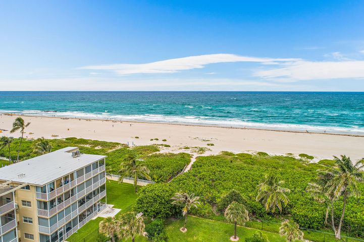 Location, location, location! First floor unit in beachfront building, low HOA fees, assigned parking, heated pool, beach access just a few steps away! Enjoy the Florida coastal lifestyle at an affordable price, located just minutes from fantastic restaurants and shopping, with the convenience of I-95 and Palm Beach International Airport...