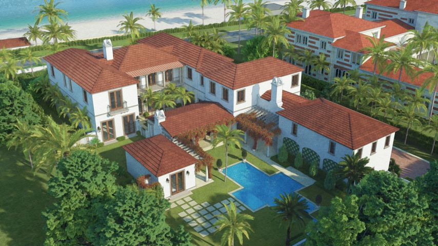 The elite team lead by Stock Custom Homes proudly presents an extraordinary opportunity to own a bespoke oceanfront residence in the coveted Estate Section of Palm Beach. Curated by the experts of Dailey Janssen Architects, and designed and furnished by Marc-Michaels Interior Design, this oceanfront estate offers unparalleled beauty and privacy. This is a true family compound, with 8 bedrooms, 10 bathrooms, 3 half baths, and spectacular outdoor living space, with front and rear loggia, center courtyard, impressive pool deck, and pool, plus direct tunnel beach access to an oceanfront cabana with another pool. The property's interior styling will reflect a transitional aesthetic with modern accents. The estate, while grand in scale, will be a warm and welcoming space with natural elements and layered neutral fabrics complemented by soft grays and blues. With grand Mizner-inspired architecture, luxurious designer interiors, and private beach access, this is a Palm Beach address of distinction.
