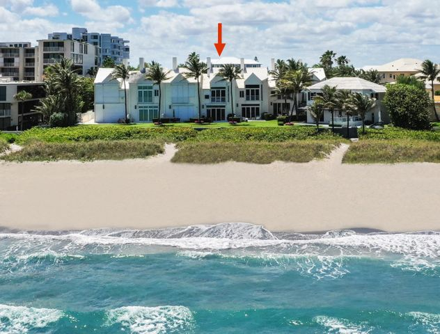 Oceanfront, Directly on sand