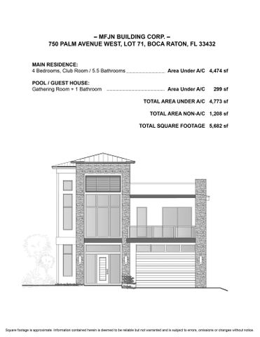 750 Palm Ave West -Front Elevation
