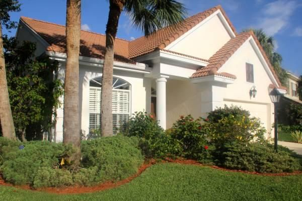 Beautifully furnished SEASONAL rental in highly sought after gated community - Sparkling 3 BR, 2BA, single family, 1.5 to Jupiter Pier. You can't beat the location! All within a mile you have our beautiful ocean, 1st class shopping, all types of restaurants, The Gardens Mall, Downtown at the Gardens, Legacy Place, Carmine's Market, I95, and SO MUCH MORE!! Approximately 15 mins to PBI airport! Avail - 3 to 6 months. Wifi - Premium Channel Package included. This updated home is on a corner lot and overlooks the serene, private preserve. Includes hi-speed internet and lawn care.
