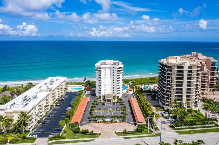 Spacious oceanfront 3BD/2BA unit located in the heart of Juno Beach. Featuring an over-sized wrap around balcony. Embrace the South Florida lifestyle in this well taken care of unit, with amenities that include a gym, pool, club room and beach access. Secure building with plenty of parking. 1 pet allowed under 30lbs. Minutes to shopping, fantastic dining, and endless activities. All information deemed reliable but not guaranteed and should be verified by buyer.