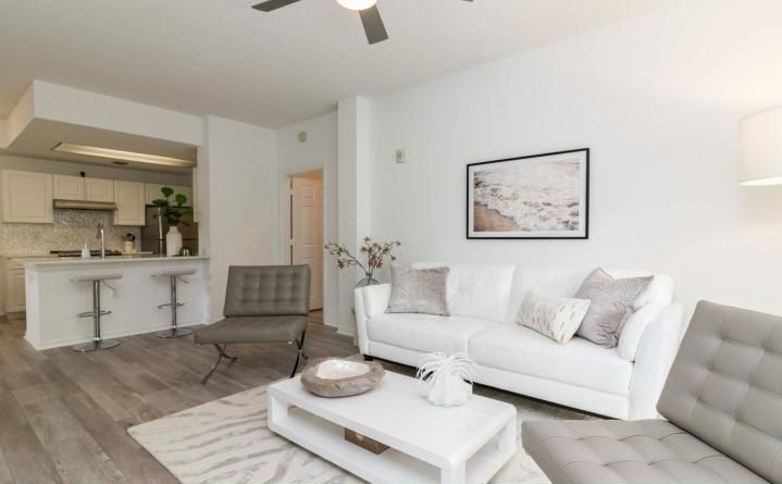 FEBRUARY & MARCH 2021, OR LONGER.Completely renovated, fully furnished, turnkey 2/2, gated community near Downtown at the Gardens, mall. Pool, Resort Club House.