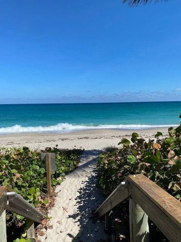 Beautiful location directly on the ocean in sought after Juno Beach. Juno Ocean Club is a quaint small condo building. Beautiful pool, 30 steps to the ocean. 2BR/2BA SW corner unit. Upgraded bathrooms. New LED lighting throughout, new carpet, recently painted. Owner will accept Highest cash offer on April 1.