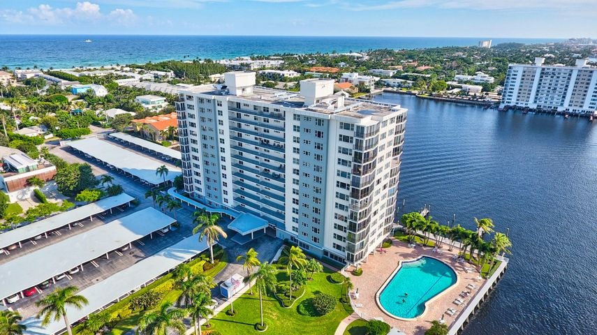 Welcome to Seagate Towers, luxury high rise located directly on the Intracoastal. Free Dockage for your boat (14 ft min/58 ft max), per availability. 2 blocks from Downtown Delray Atlantic Ave (Restaurants, Shops, Art Galleries & More) & A1A/Ocean Ave and the Beach. Location Location. 2 BR, 2 Bath Corner Unit (Split Bedroom Plan for Privacy) with a Open and Updated kitchen featuring Stainless Steel Appliances, Granite countertops and a Wine Cooler. Plenty of cabinet space. Crown Moulding in Living Room area. BOSCH Washer & Dryer. Impact Glass throughout, Including your Enclosed Private Patio. Sunrises from your NE Corner location. Enjoy the Intracoastal views from your kitchen, Living Room and Large Private Patio. Very Spacious unit (1,970 total sq ft), Great for Entertaining. Assigned Storage Locker. Seagate Towers' Amenities include Concierge Doorman with 24 hour security, Newly Renovated lobbies and Coastal/Social Room, Free Boat Dockage, per availability. Huge heated pool, Large Patio/Grill area, Fitness/Exercise Room, Bike Room & More. Buyer Must Verify All Information. Info herein deemed reliable and subject to errors, omissions and change without notice.