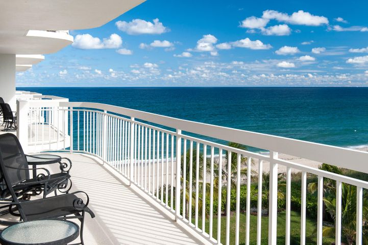 Wonderful South and West views of the Ocean and Intracoastal from this stylish totally renovated apartment in the sought after Palm Beach Stratford Condominium. Floor to ceiling hurricane impact doors open onto the large wraparound terrace offering incredible views. Luxurious renovation with marble floors throughout, custom kitchen & bathrooms, fitted closets, gracious entrance hall, separate laundry room, and two zone air conditioners make this a move-in residence. Amenities include 24 hour doorperson, 2 car garage parking, beautiful pool area with sun deck located steps to the wide beach, tennis courts, state of the art fitness center, community rooms, and newly renovated lobby & halls. The Palm Beach Stratford is well located, close to Palm Beach Par 3 Golf Course, five star hotels, fine dining, Worth Avenue, and cultural centers.